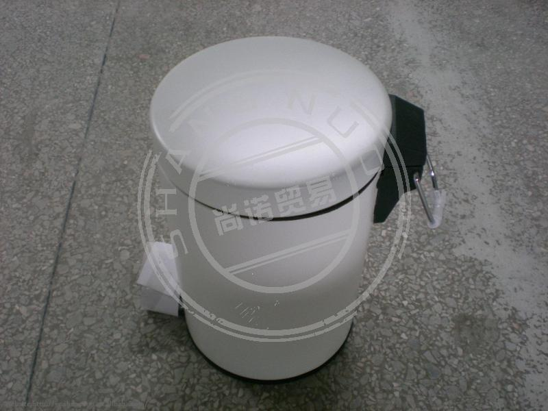 white cleaning product rubbish bin with color coated