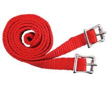 PP webbing for English spurs,with Zinc die casting buckles for horse riding/horse racing (Webbing-Red)
