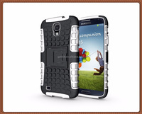 NEW hot 8 colors luxury Armor TPU+PC 2 in 1 hybrid kickstand phone case For Samsung For Galaxy S4 Active/I9295