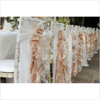 wholesale elegent chiffon wedding chair sashes