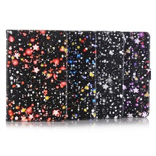 Starry sky style tablet cover TPU wallet card slot drop-resistance folding kickstand tablet case for ipad mini1/2/3/4