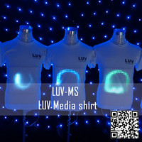 high quality el t shirt led el t shirt DJ t shirt in el product