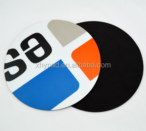 pvc round rubber mouse pad factory