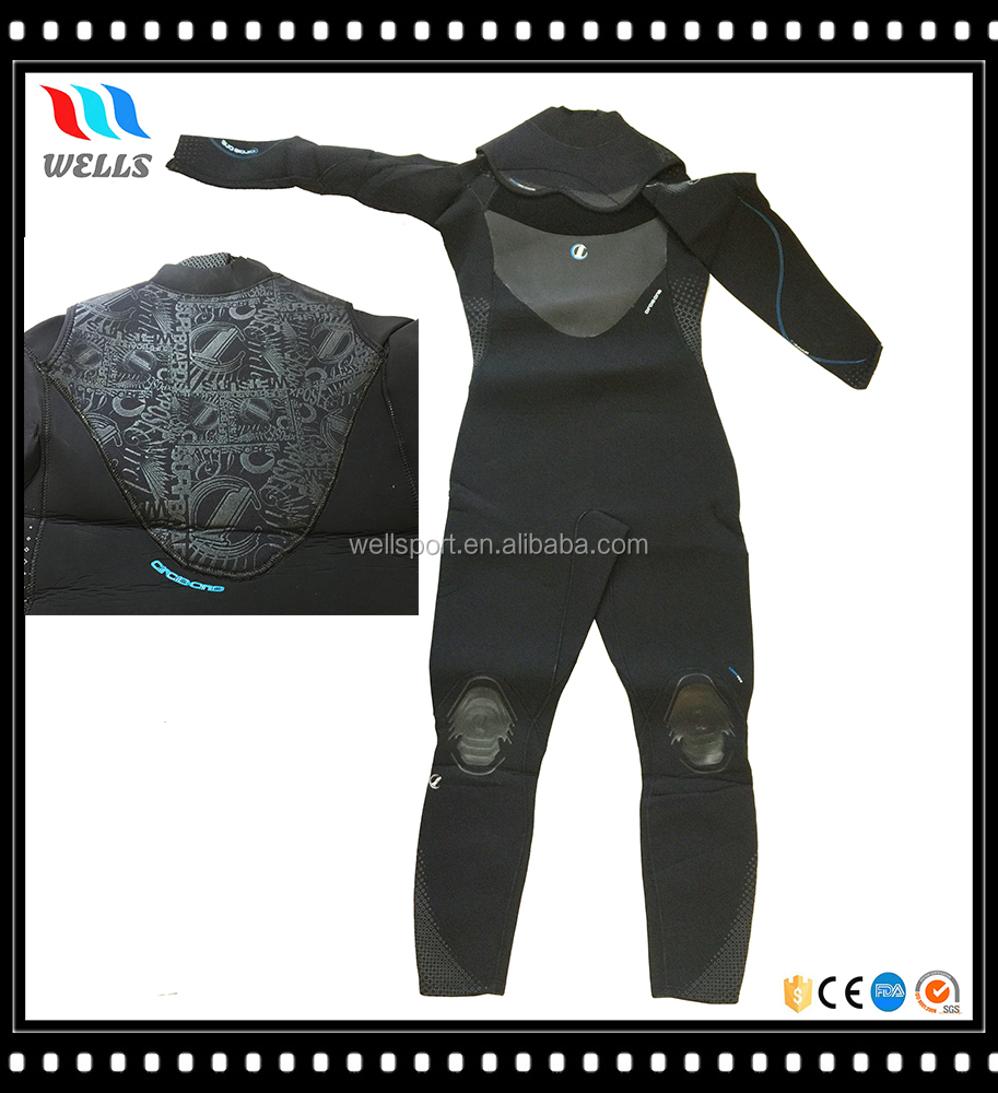 Waterproof Silk Screen Full Body Scuba Diving Suit with Double Collar