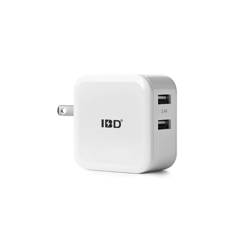 IBD Universal Portable usb wall charger adapter 4.8a with 2 port US EU UK Plug Mobile Phone Charger for iPhone