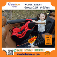 2016 New Leather Luxury Safety Portable Newborn Adult Infant Children Booster Car Seat with ECE R 44/04 European Standards