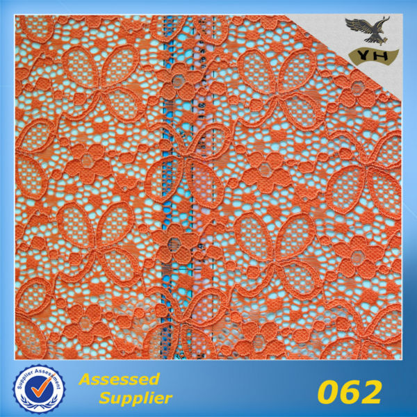 Hot selling classic design knitting fabric chemical embroidery lace