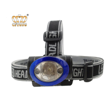 ABS Material Red Leds Flashing Light Waterproof Outdoor Camping 1 <strong>W</strong> + 2 Red Led Headlamp