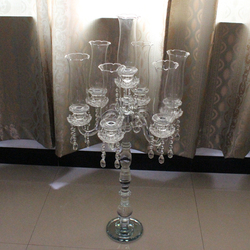 floor standing bowl crystal candle holder home decor for wedding