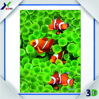 High quality 3d lenticular pictures with gold fish design