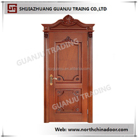 High quality solid wood swing veneered 2016 raw solid wood doors prices