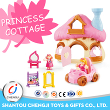 High quality newest design plastic miniature furniture toy doll house