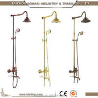 Italian Design Hotel Bathroom Brass Polished Faucet Shower Mixer