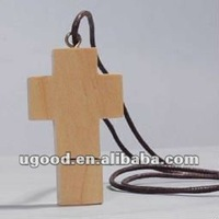 Wooden Cross Necklace USB Flash Drive