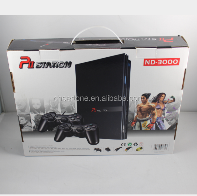 Fashion 32 bit tv game console support PS2 wired and wieless controller