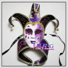 Regal Purple PVC Venetian Mask for wedding dancing parties home decor Masquerade