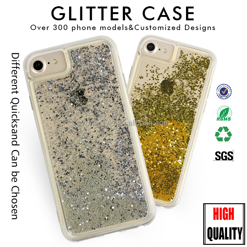 Plastic Tpu Protective Case For Iphone Case Glitter Liquid Phone Case For Iphone 7 Plus Cellphone Cover For Iphone 6S Plus