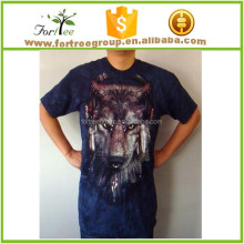 3D t-shirt wolf design with full print