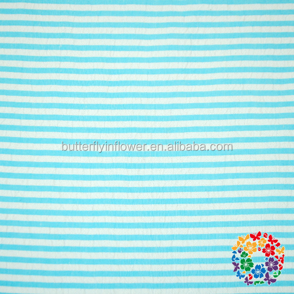 Hot Sale Fashion Seersucker Fabrics Wholesale Light Blue White Stripe Cotton Seersucker Materials
