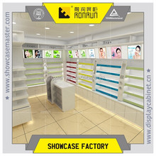 cosmetic counter for shopping mall kiosk ,with storage cabinet and favorite price