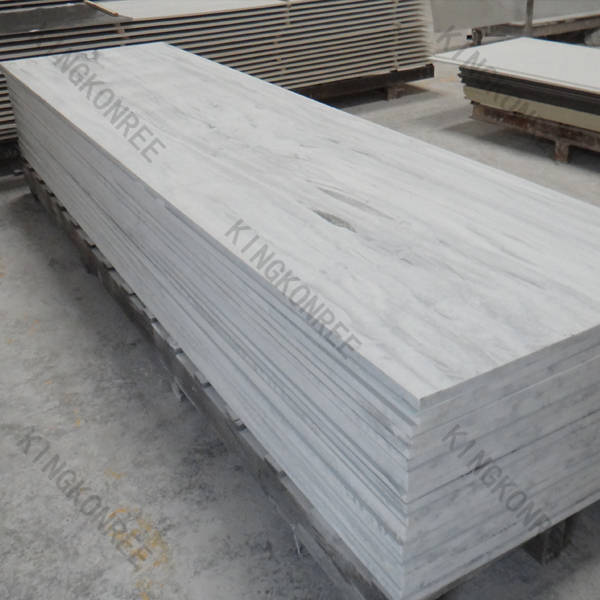 Kkr glacier white marble stone sheet artificial stone for Custom home builder selection sheet