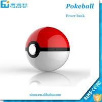 Fast charging dual usb pokemon power bank for all of smartphone second Pokeball power bank