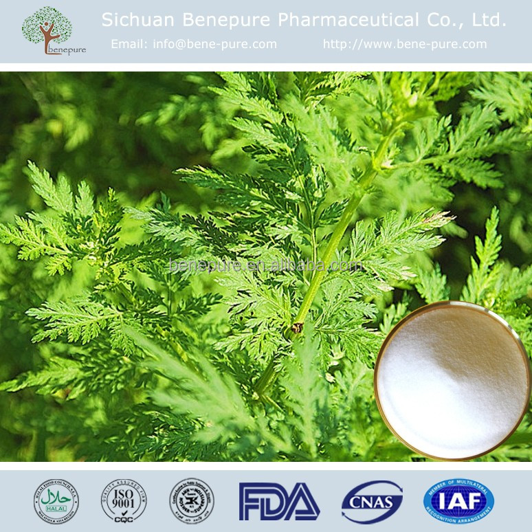 Pure Natural Anti-malarial ingredient 90%-98% Dihydroartemisinin Artenimol from Artemisia annua L.leaf extract