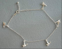 silver anklets,indian silver anklets,antique silver anklets,