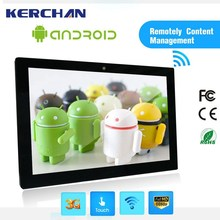wifi lcd ads tv full hd 1080p/android media player/android advertising display/led display android tablet
