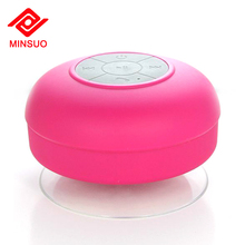 Hot selling mini wireless handsfree waterproof bathroom bluetooth shower speaker with sucker