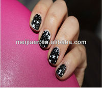 Glitter nail sticker\sex girls with animal Gold Supplier