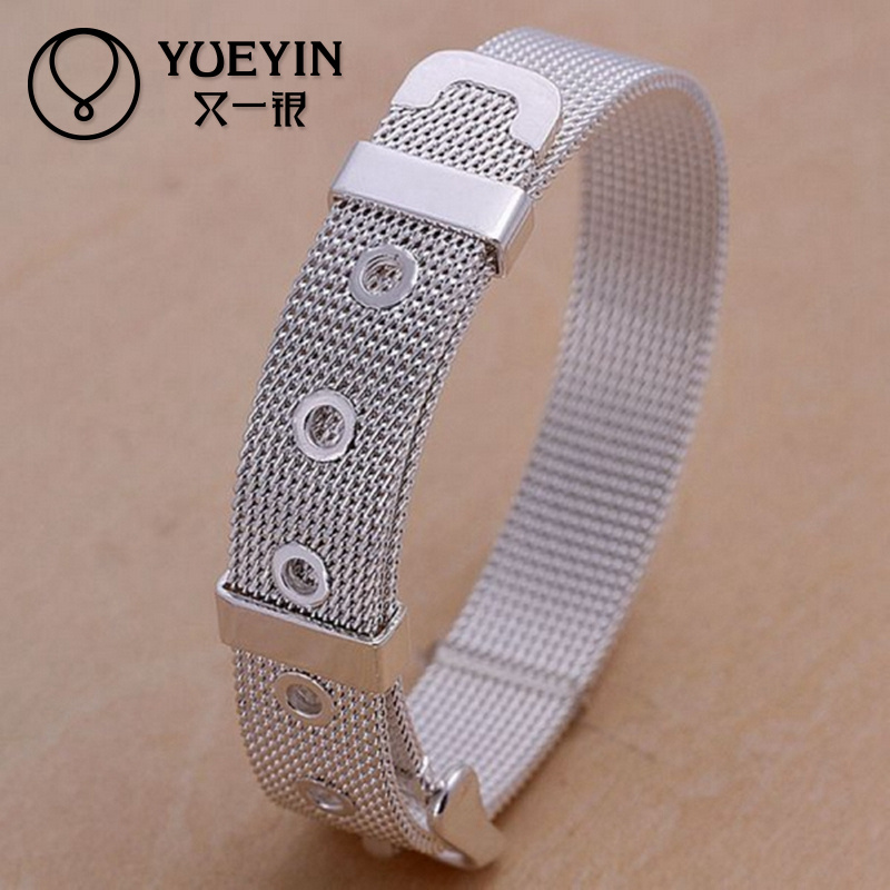 Cheap Top Quality 925 Net Watch Band silver mens bracelets