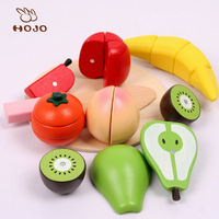 wooden children's educational toys early childhood play house simulation fruits and vegetables gift