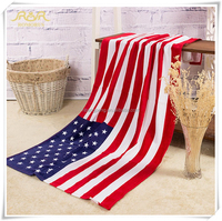 Fashion 70*140cm American Flag 100% Cotton Absorbent Beach Towel