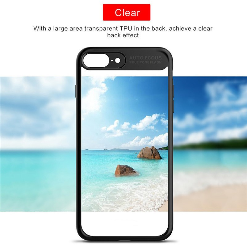 China factory wholesale clear plastic mobile phone case shockproof silicone smartphone back cover case for iphone 7plus/8plus