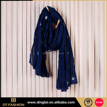 Online shopping wholesale latest fashion colorful embroidered scarf