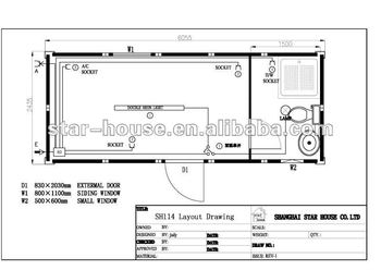 Flat Pack Container House &Single Unit with Bathroom& SH114
