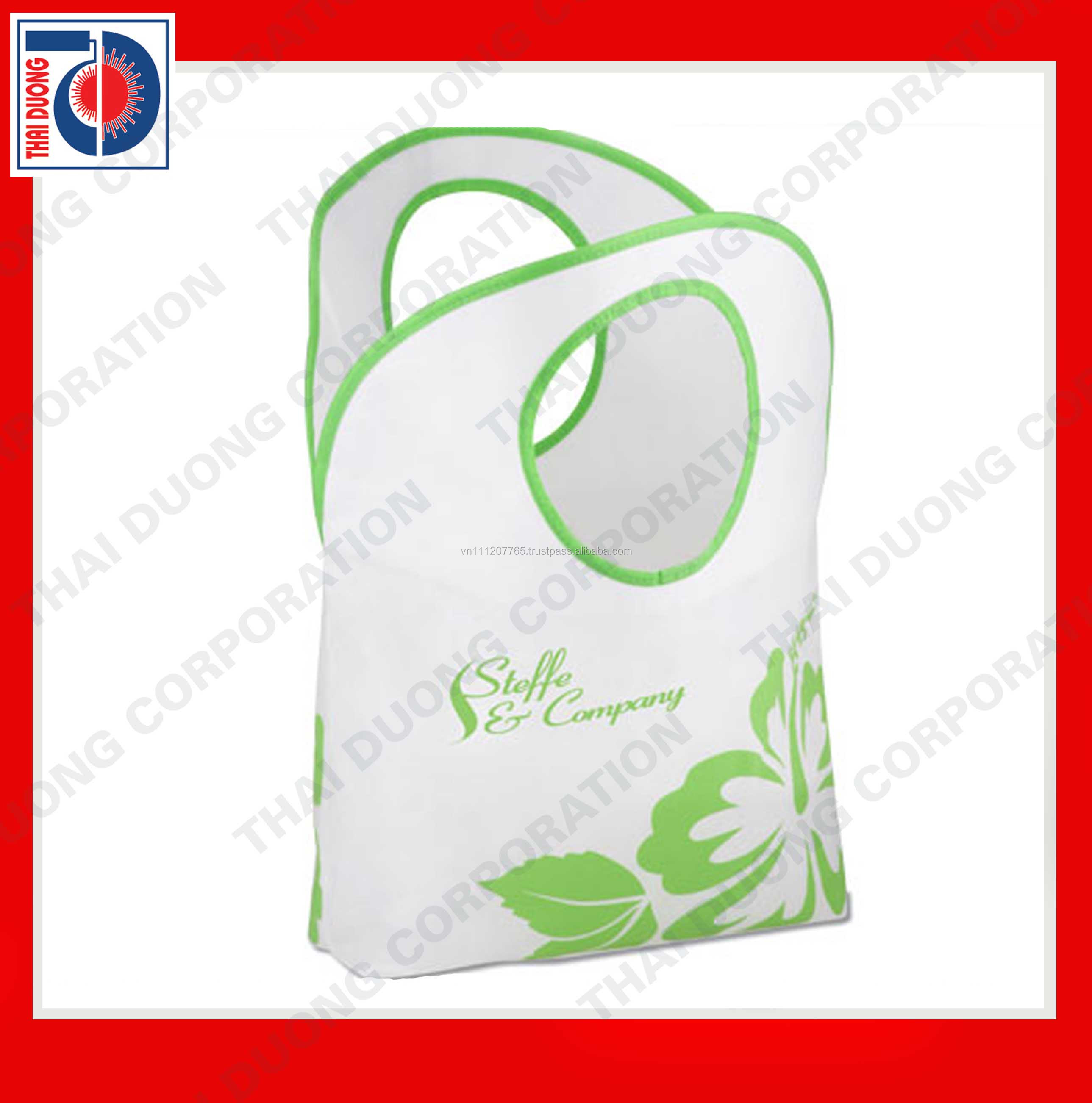 Fashion woven tote shopping bag