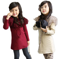 Fancy dress competition for kids photo 2015 new model comfortable special shawl design autumn girl dress 1005