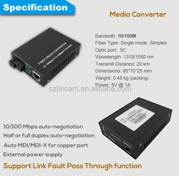 10/100BaseT/TX to 1000Base SFP Redundant Link Converter