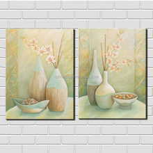 Wall Decor Canvas Wall Painting for Living Room Flowers in Vase Still Life Oil Painting on Canvas