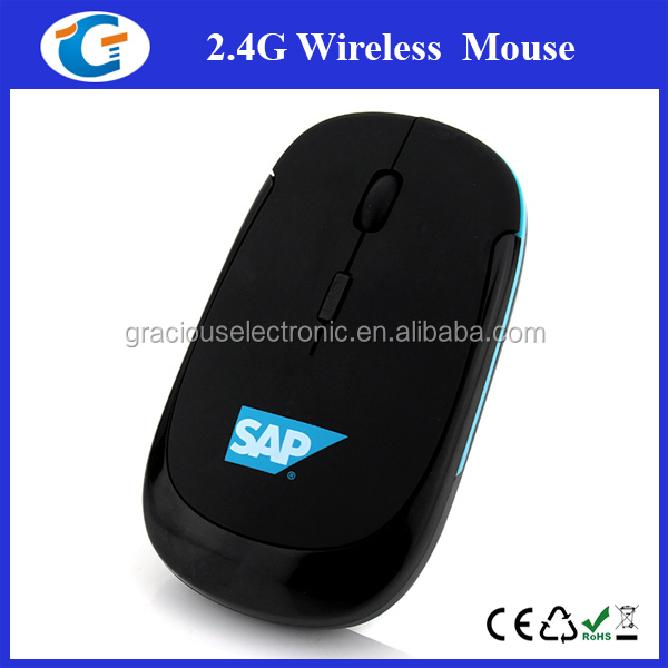 USB 2.4G wireless flat optical mouse for computer laptop notebook