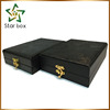 Arabic fancy jewelry box large size portable black pattern wooden jewelry box