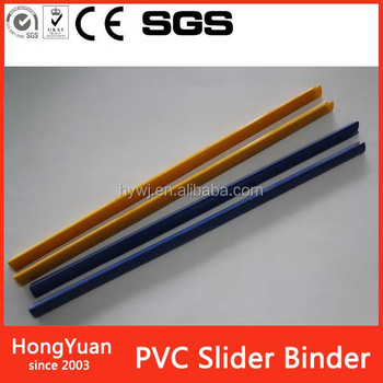 Office And School Supplies Logo Products zipper slider sizes pvc slide binder