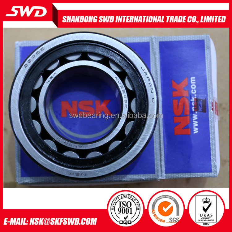 NSK NU2208 Rowing Machine Parts Cylindrical Roller Bearing