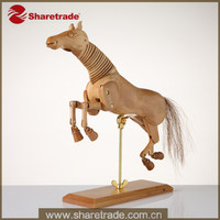 2015 New Trendy Flexible Vivid Animal Articulated Decorative Wooden Horse Dummy Mannequin