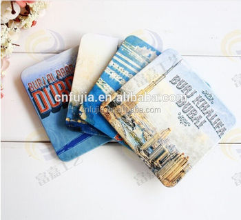 Wholesale custom design art wooden printed holder cup coaster