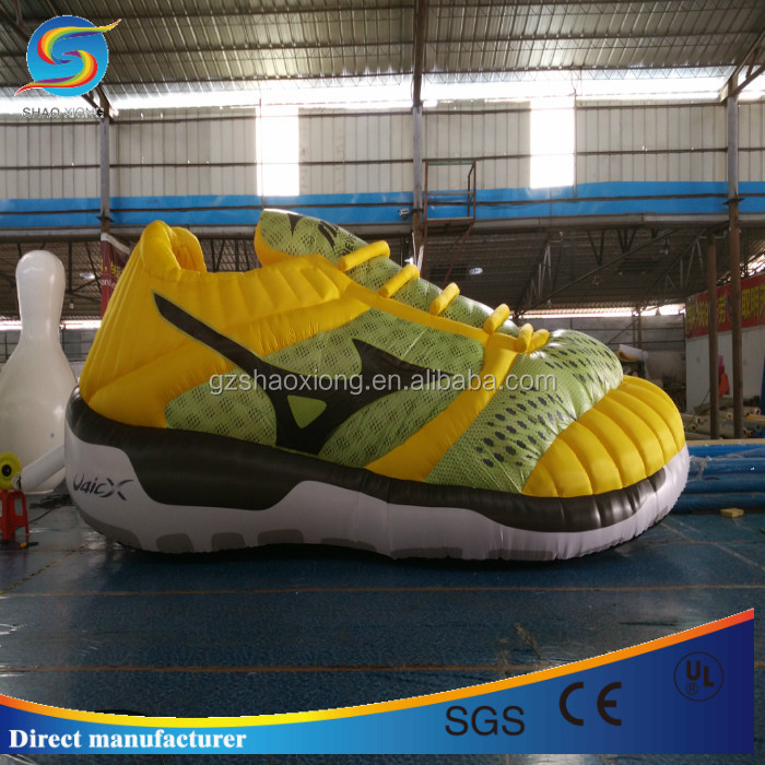 Factory price inflatable advertising cartoon,huge inflatable shoes for commercial promotion