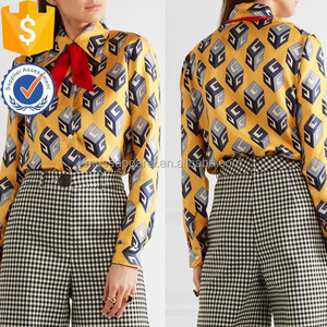 Printed Silk Blouse Women Apparel Wholesaler Garment Clothing Made to Order