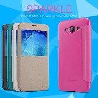 Visual Flip Leather Case For Samsung Galaxy A8 A8000 NILLKIN Sparkle Phone Case Cover